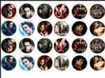 24 x Twilight Saga Eclipse Edible Rice Wafer Paper Cake Toppers